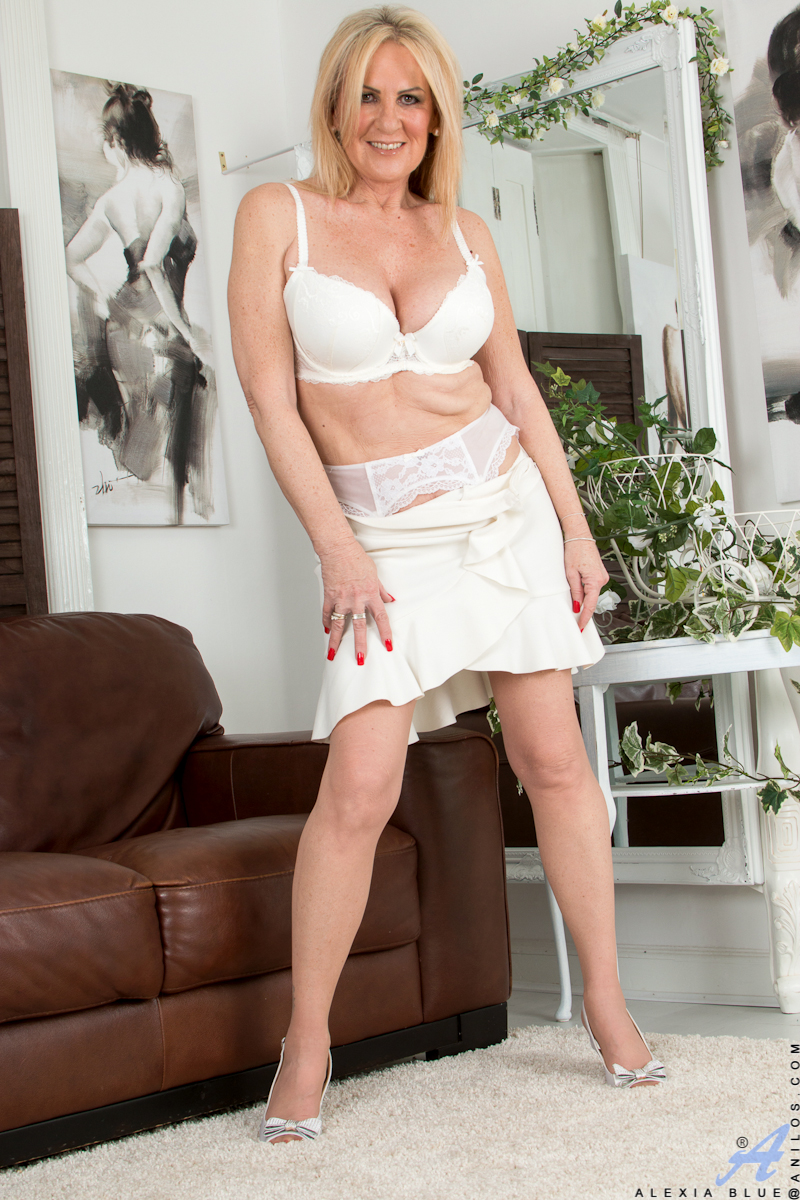 a blond mom in lingerie from svetofor