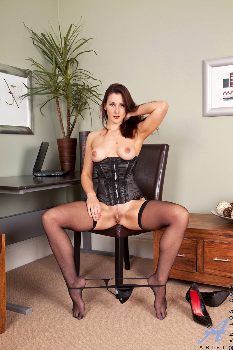 Mature women stockings office consider, that