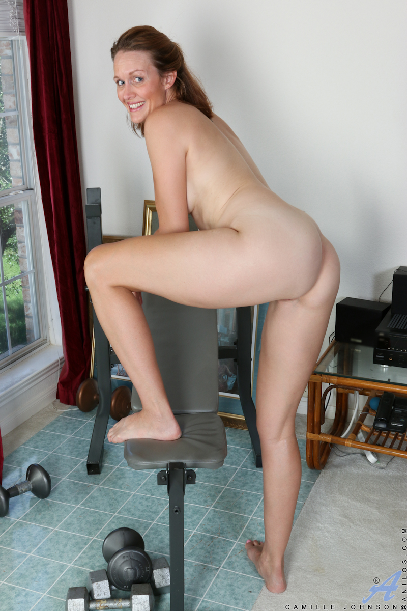 Fucks pink pussy with her dildo 2