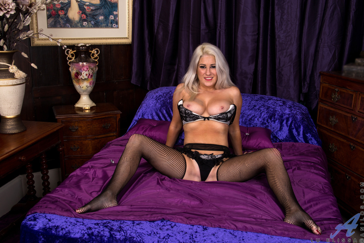 Anilos.com - Lu Elissa: Fishnet Stockings