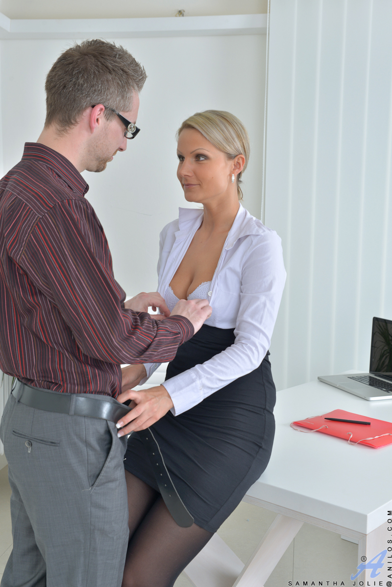 Mature women having sex in the office