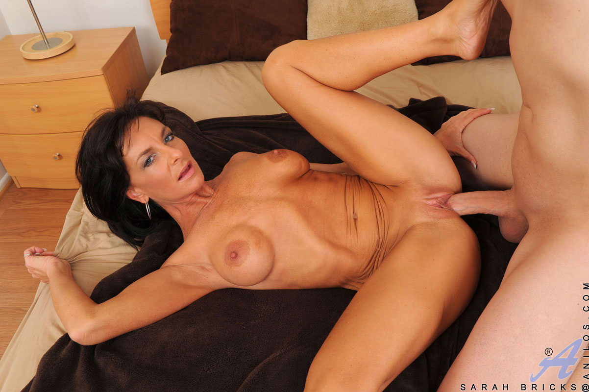 ... mature women on the net featuring Anilos Sarah Bricks milf fucking