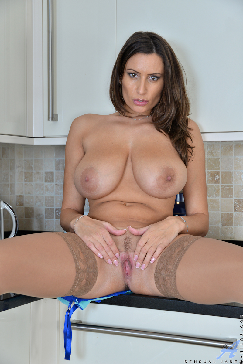 A delicious brunette who loves milk jj 7