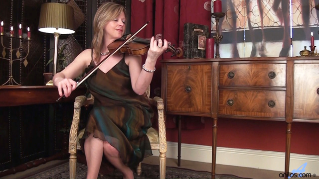 Anilos Louise Pearce breaks from violin practice to tease her eager pussy