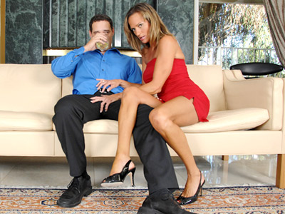 Anilos Montana Skye seduces a man with alcohol and a bj from Anilos.com