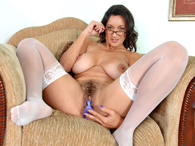 Sexy cougar in glasses masturbates after reading an erotic novelvideo