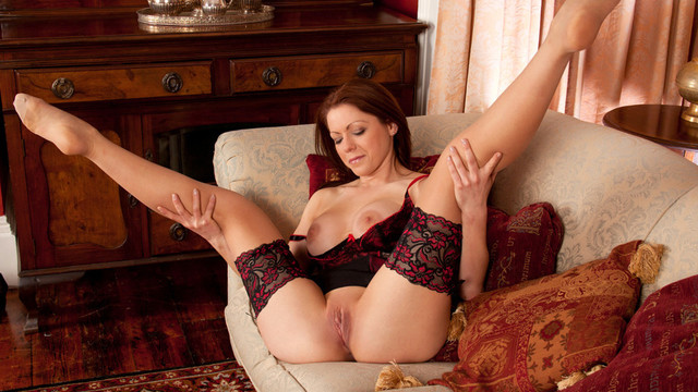 Breathtaking clothes porn star explores her own limits when she discards her brassiere and pants to masturbate her sweet cunt on video for the very first timevideo