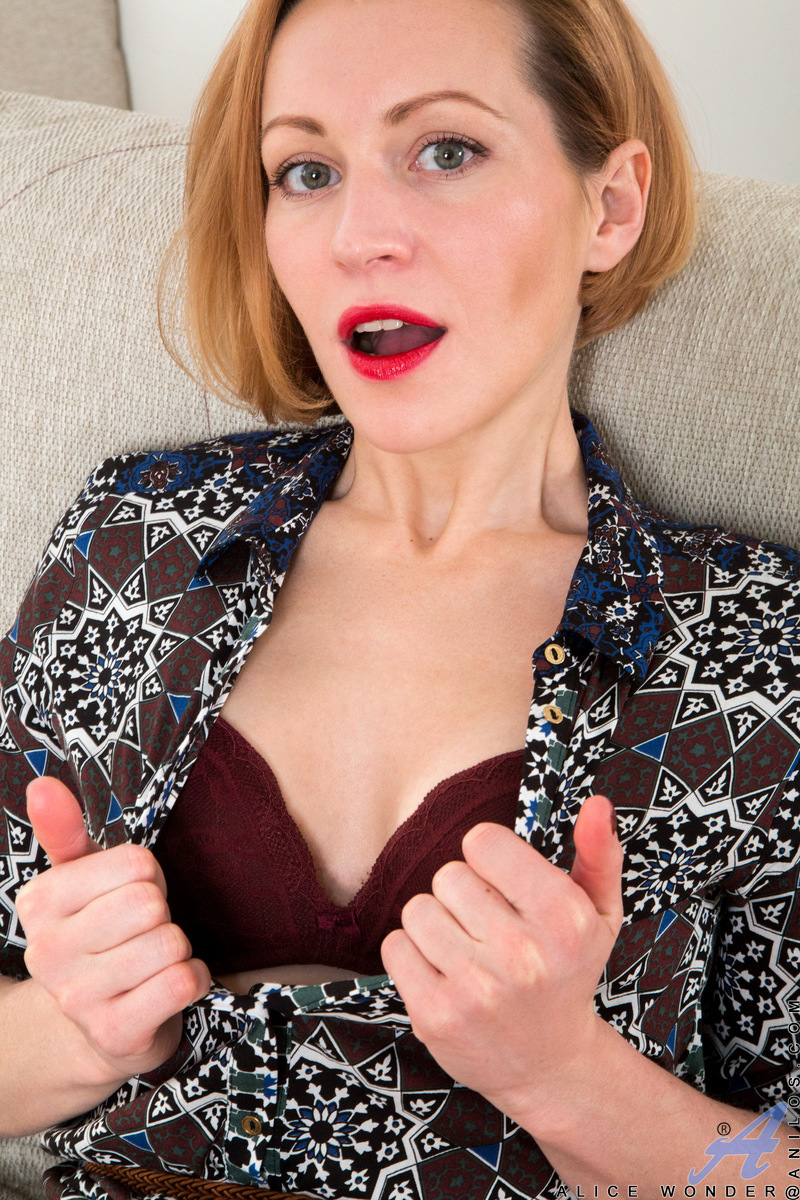 31 year old Alice Wonder is a Russian milf with attitude. Her short hair and slim body are still plenty supple as she writhes beneath her sexy touch. Enjoy the show as she peels off her bra and thong and then pushes a Rabbit vibrator deep into her cum cra