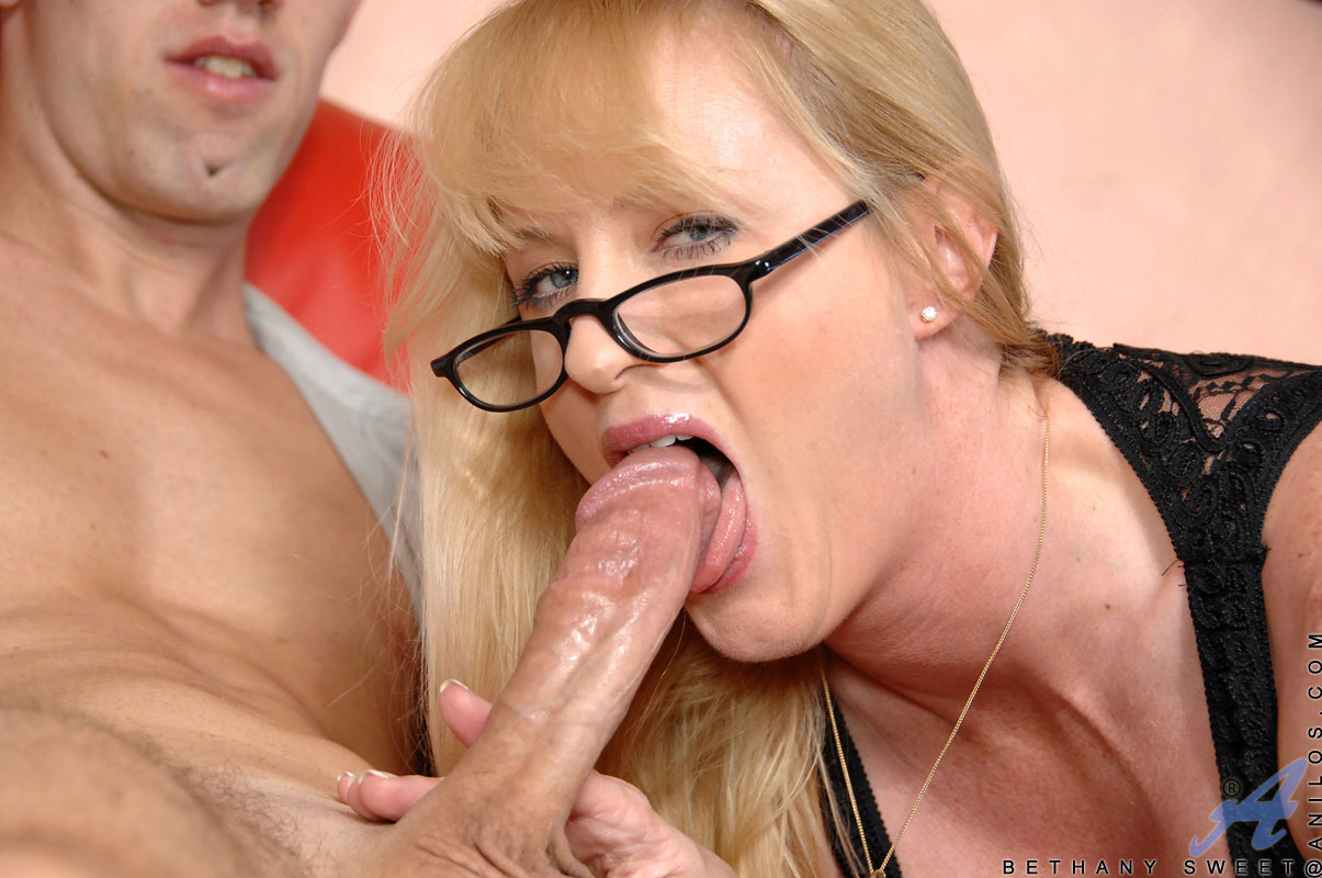 Sex starved cougar deepthroats her young lovers thick cock and takes a pounding deep in her hot milf pussy