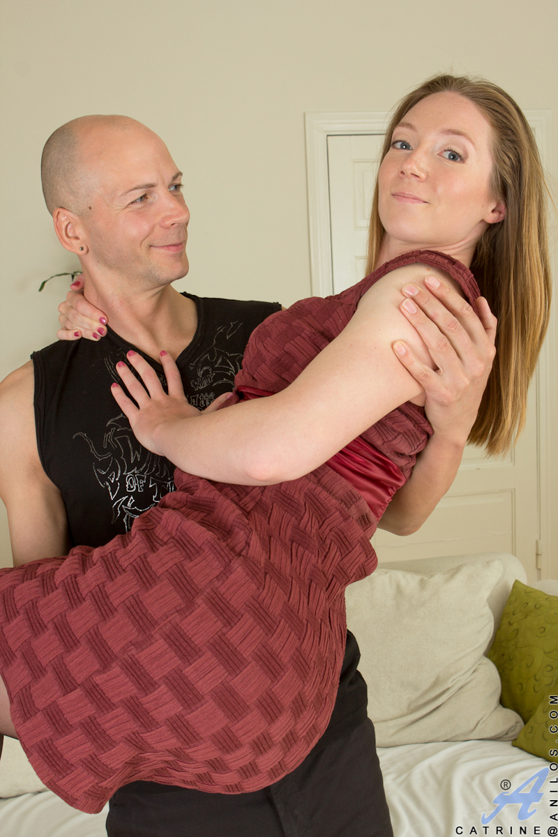 Catrine is a 29 year old Russian housewife who loves to please her husband. Her man knows just how to handle her, peeling off her dress and then, amidst plenty of kisses, her bra and sheer thong. The hot horny mom gets down on her hands and knees to deliv