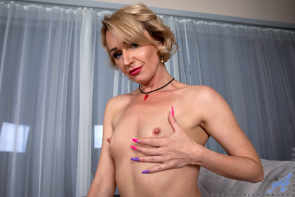 Do you want to watch a hot milf like Cherry Aleksander make herself feel very good? She grabs a dildo and licks it as foreplay, then shoves it deep into her cock hungry cooch. When she's had one round of orgasmic fun, she shifts the dildo into her ass for