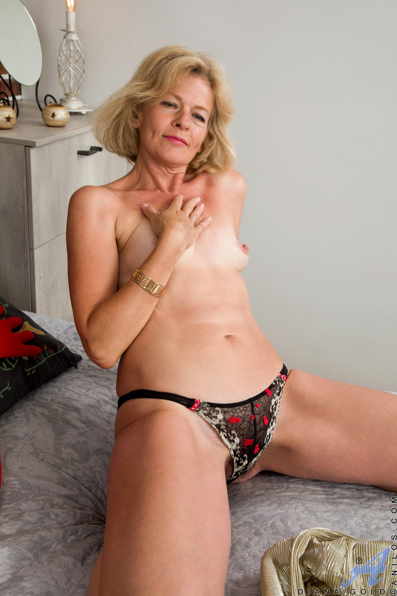 You will love Diana Gold in her evening gown and high heels, but she's even sexier when she's bare. This Russian milf is always on the prowl for someone to take care of her needs, but when she comes home alone she is happy to use one of her many toys on h