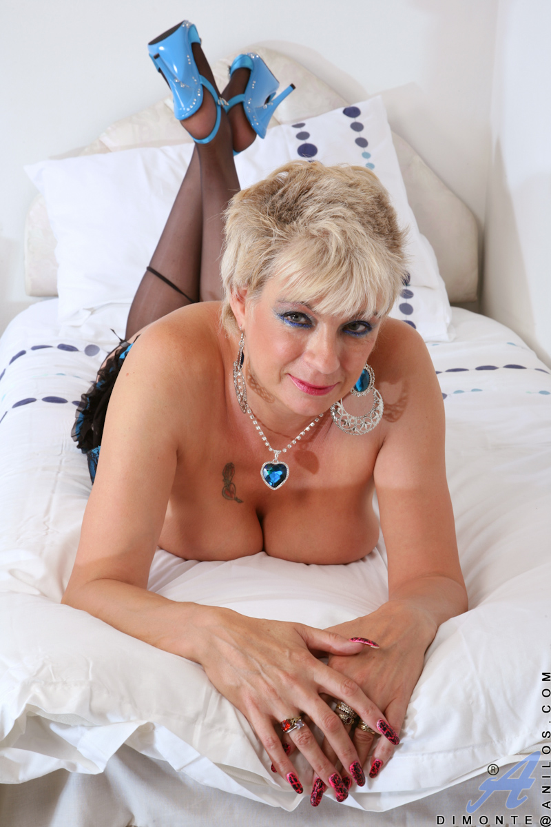 busty short haired blonde having sex