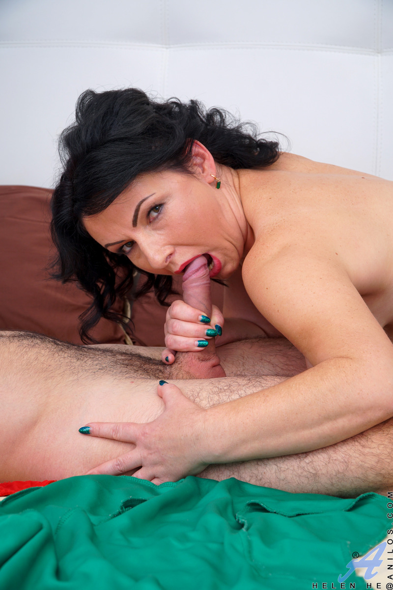 Check out Helen He, a spry and gorgeous milf with big boobs and a taste for cock in any hole she can get it. When she brings home a nice young man to bang, she wastes no time in gobbling that cock and then climbing on top to get her rocks off before takin