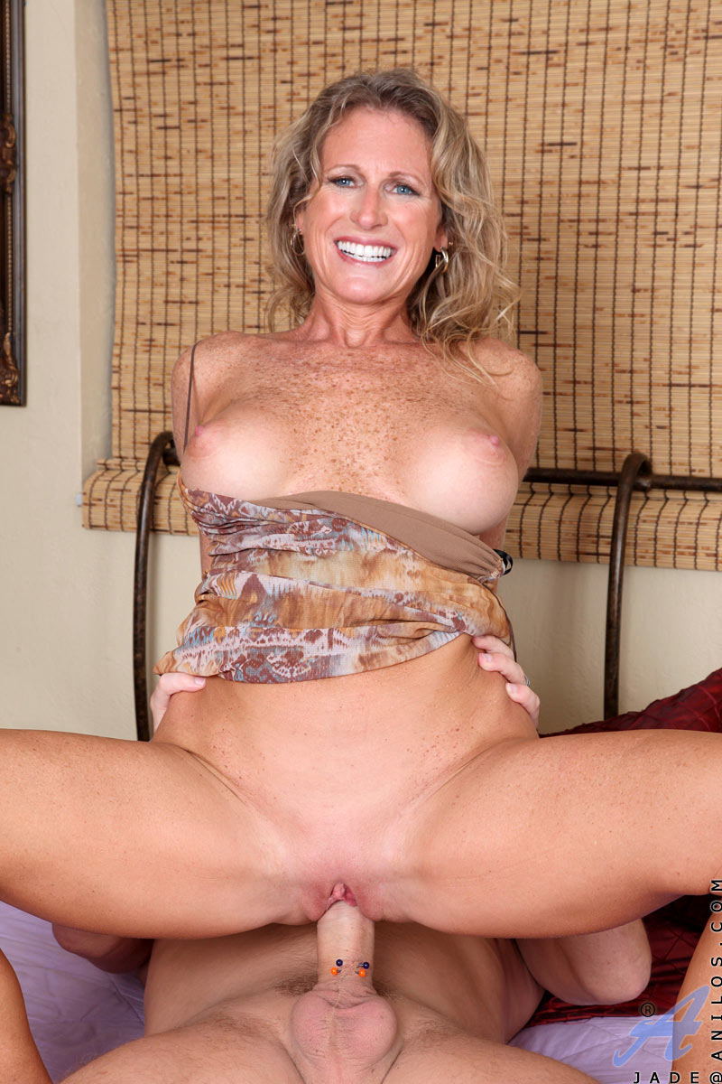 Cougar milf Jade gets a hardcore pussy ride from a hard cock.