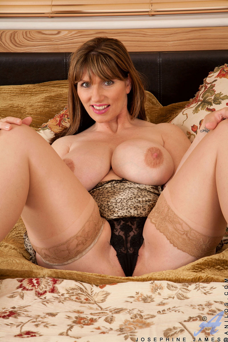 You will lust after the giant tits on mature vixen Josephine James as she pleasures her horny pussy with a vibrator