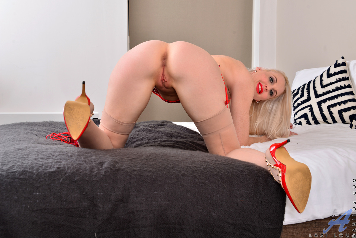 Do you want to see a stunning housewife play with her twat until she cums? Check out Lexi Lou, who's ready to drop her bra and thong and kick off her high heels. Her tits demand some attention, but this lusty mom really wants the magical touch of her vibr