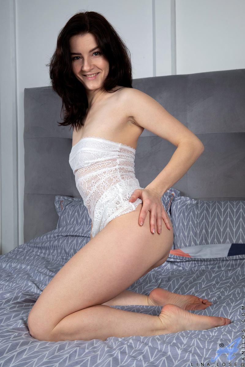 What would you do if a hot mom like Lina Lose invited you to come on over so you could watch her paint her nails and then peel off her sexy sheer nighty? This housewife's body is such a tight petite package, you won't believe how sensitive her small nips