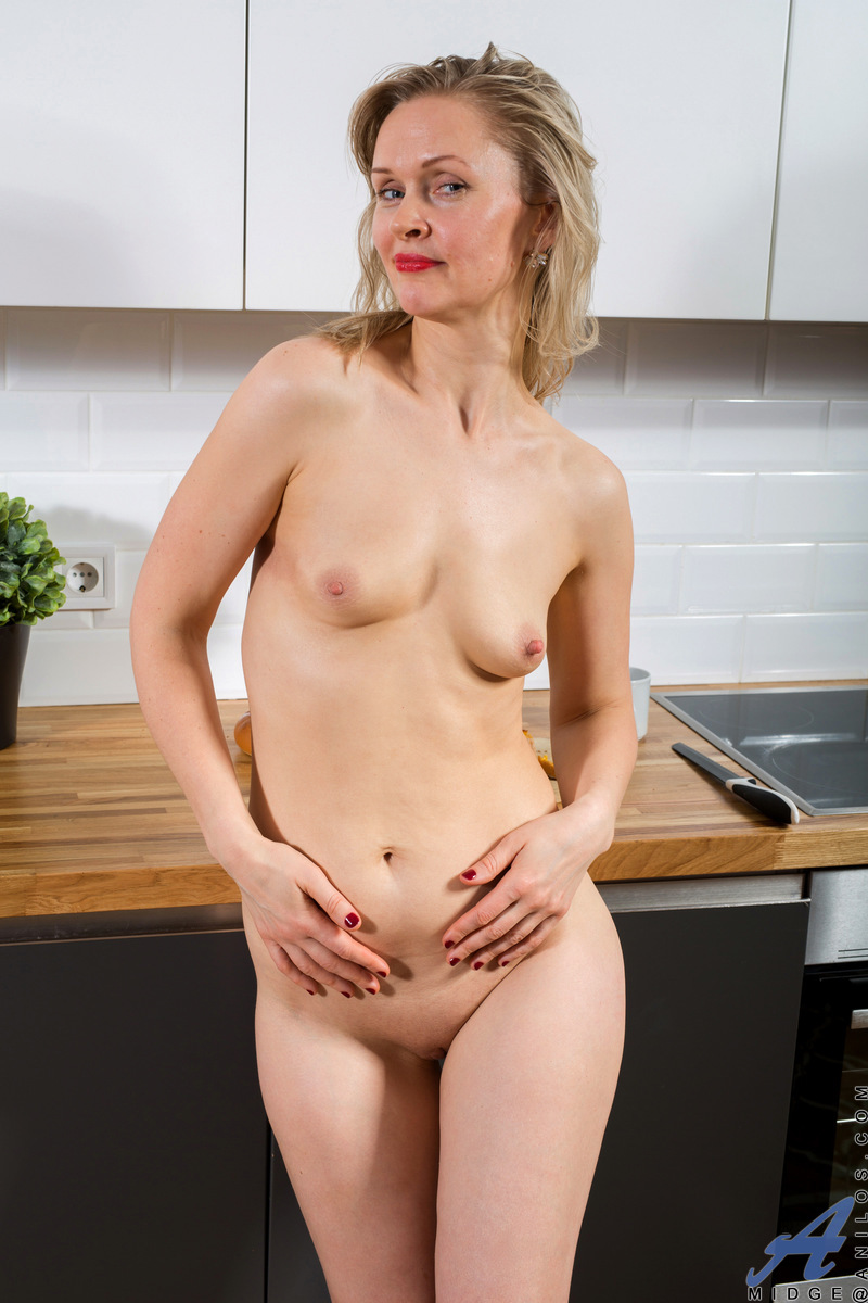Blonde and beautiful, Midge has just returned from a hot date but she's not about to be too easy. Instead, this horny newcomer will let you enjoy the pent up sexual desire she's been holding back as she gets naked and goes to town finger banging her cum c