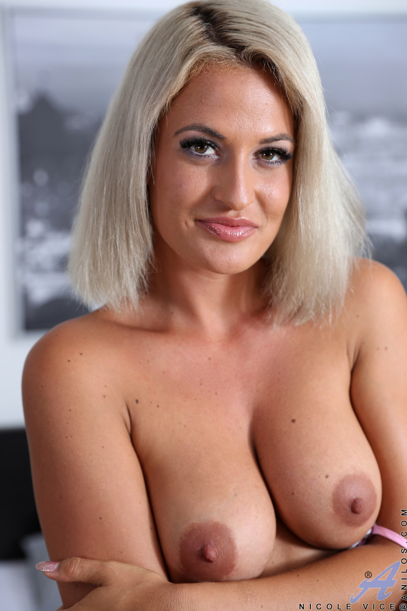 Looking hot as hell in sexy lingerie, Nicole Vice is a dream come true. This Czech milf is stacked and toned, with nipples she loves to pinch and a bald pussy that creams for a lover's touch. Watch her pull out a magic wand vibrator and work her clit to a