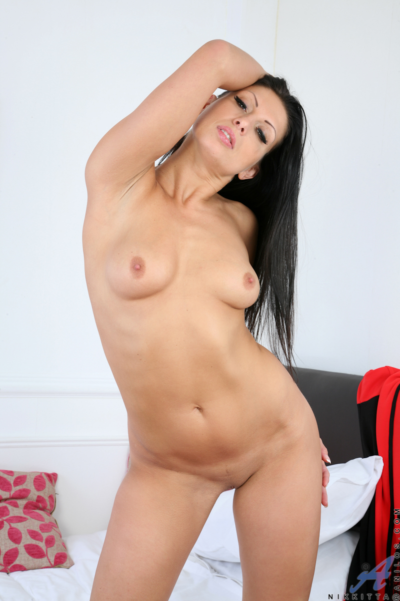 Long black hair nude