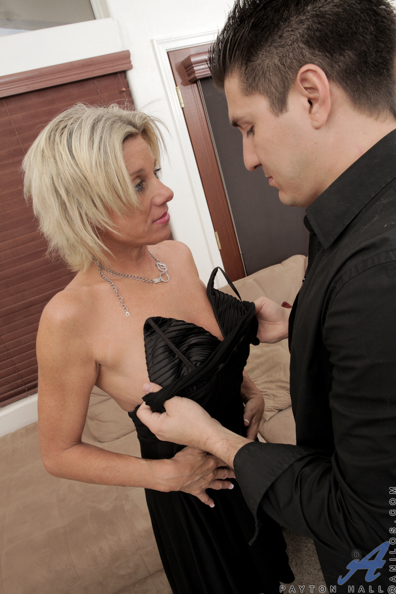 Cum hungry cougar may be new to porn but she sure knows her way around a much younger cock and swallows it down like a pro