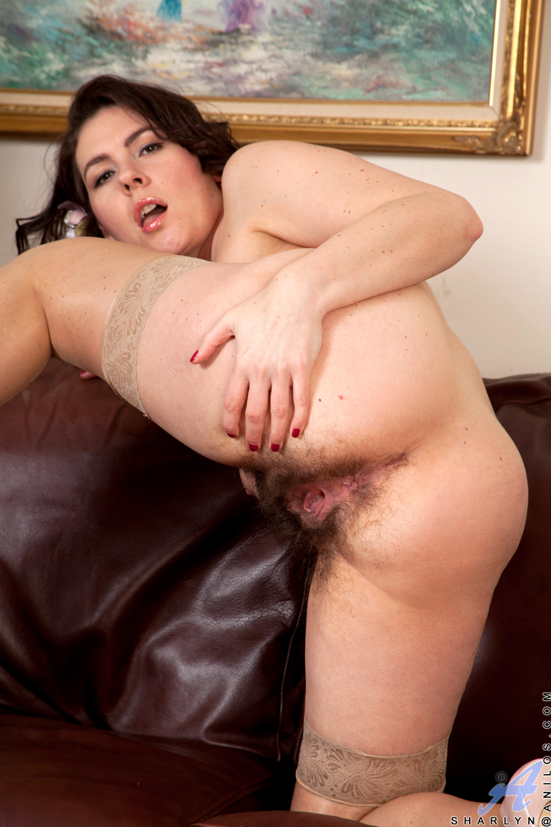 Dirty whore Tess Morgan gets her very hairy pussy fucked 7:10 All nude.